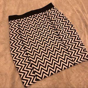 H&M Zig Zag Pencil Skirt